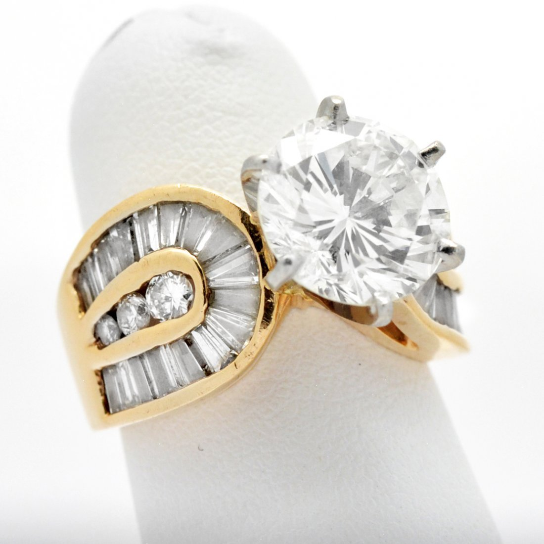 Platinum & Gold 4.04 Carat Diamond Ring