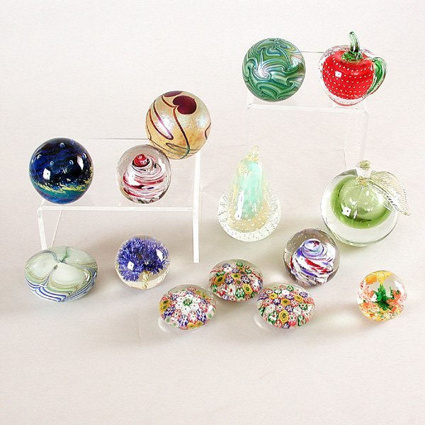1: 14 Victorian Glass Paperweights