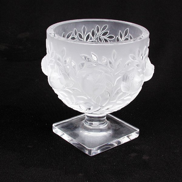 14: Lalique Candy Dish, Bird Relief