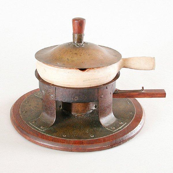16: Gustav Stickley Copper Chafing Dish