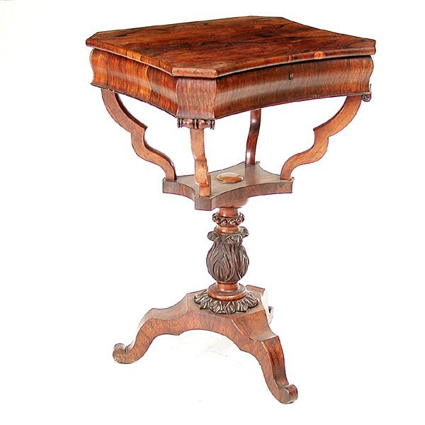 24: Victorian Rosewood Sewing Table