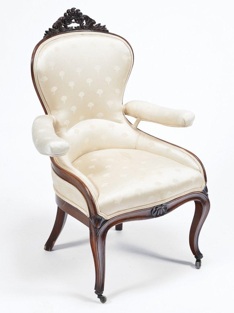 Unusual Victorian rosewood armchair