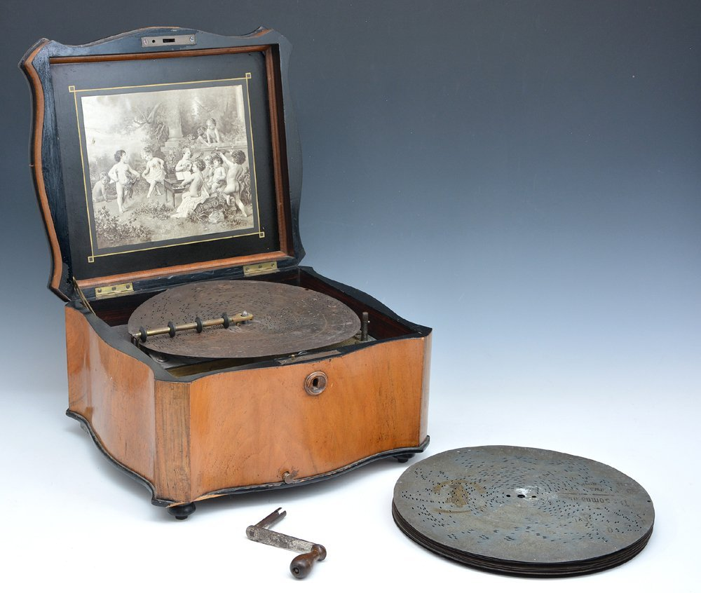 "Polyphone disc music box, 11"""
