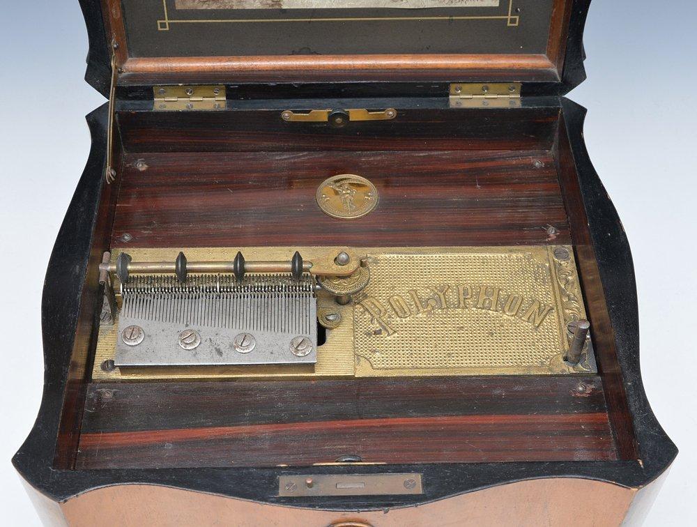 "Polyphone disc music box, 11"" - 2"