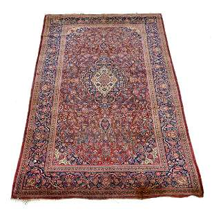 """Antique Persian Scatter Rug, 6' 10"""" x 4'2"""""""