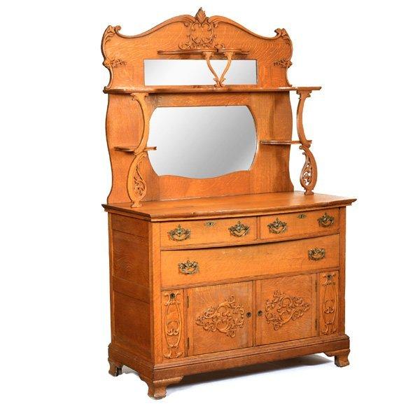 American Victorian Oak Sideboard