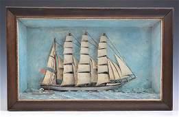 "Diorama model of U.S. Coast Guard schooner ""Alert"","