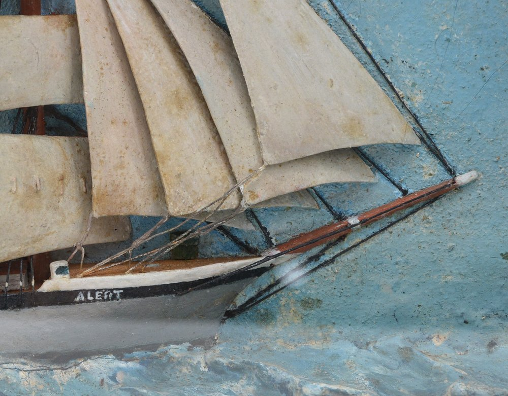 "Diorama model of U.S. Coast Guard schooner ""Alert"", - 2"