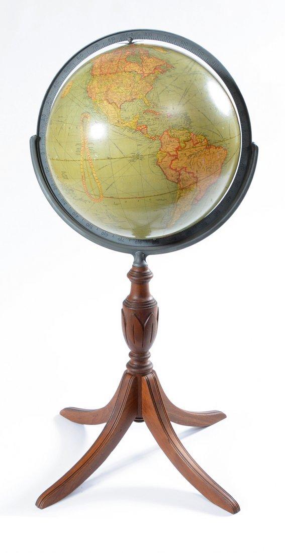 "Vintage 16"" Replogle globe on stand"
