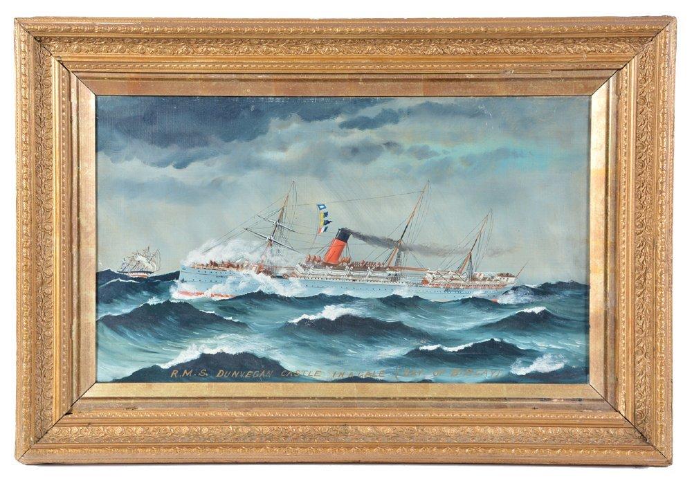 English ship painting, R.M.S. Dunvegan Castle