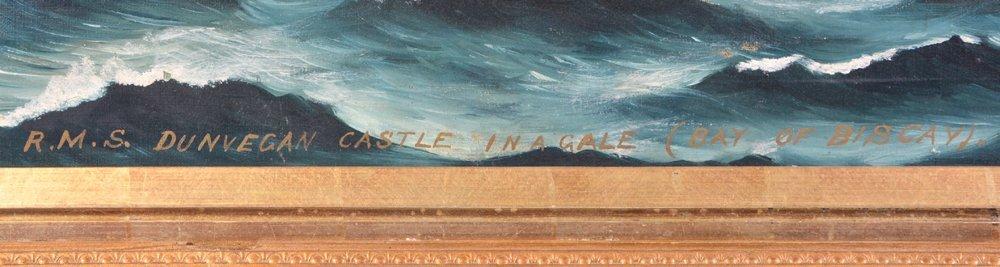 English ship painting, R.M.S. Dunvegan Castle - 2