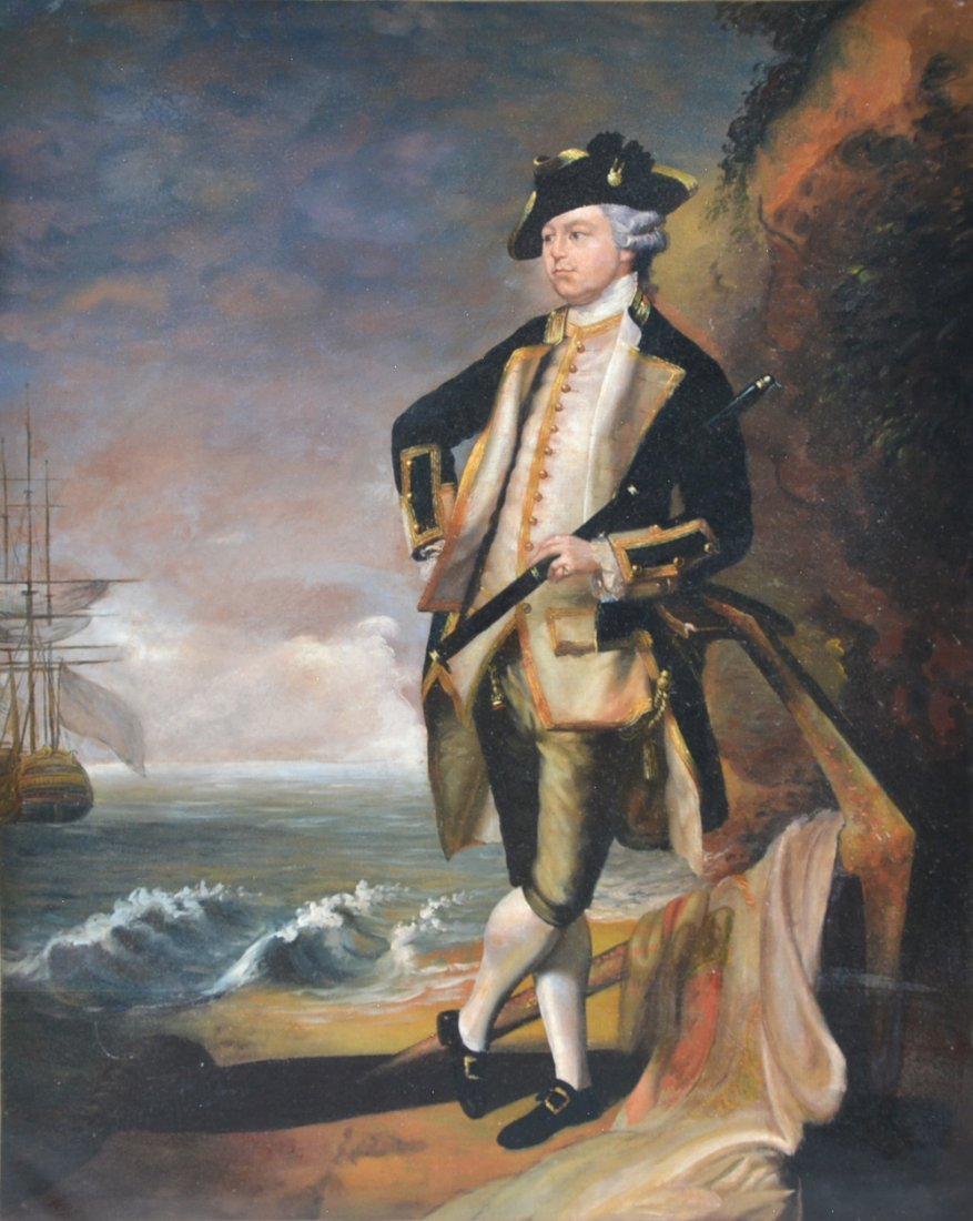 Portrait Captain Horatio Nelson, English School, O/C