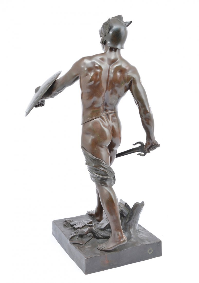 "E. Picault bronze, ""Pro Jure"", Gallic warrior, 25"" t - 3"