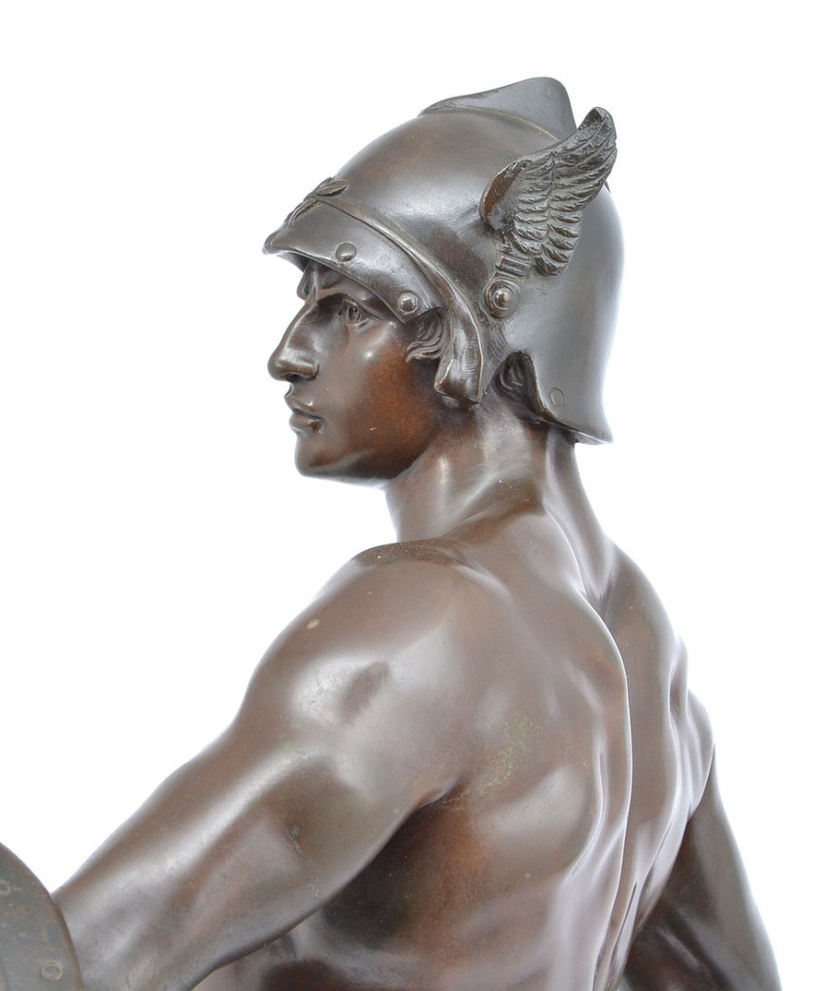 "E. Picault bronze, ""Pro Jure"", Gallic warrior, 25"" t - 4"