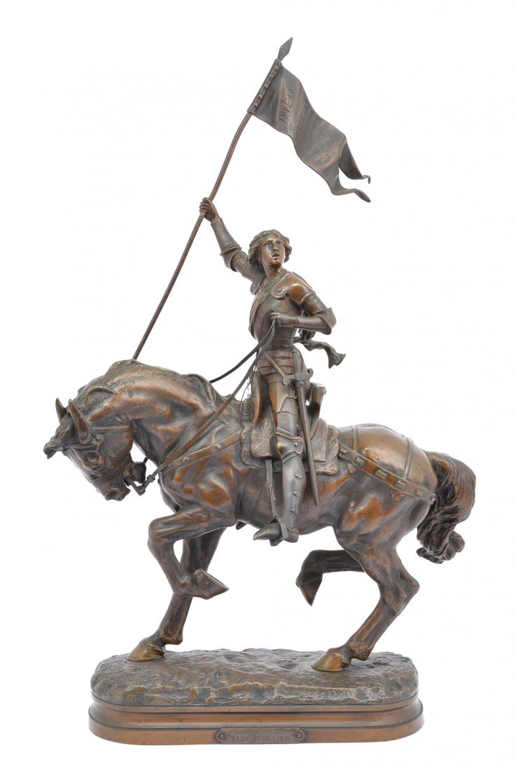 "A Gaudez bronze, ""Joan of Arc"", 28 3/4"" tall"