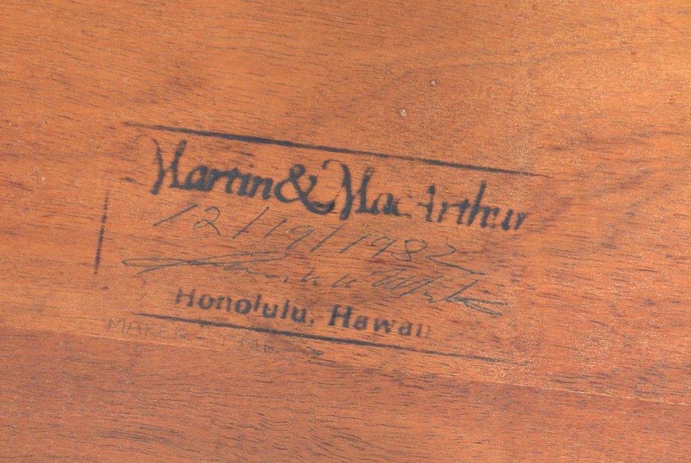 Hawaiian koa rocker, Martin & MacArthur - 2