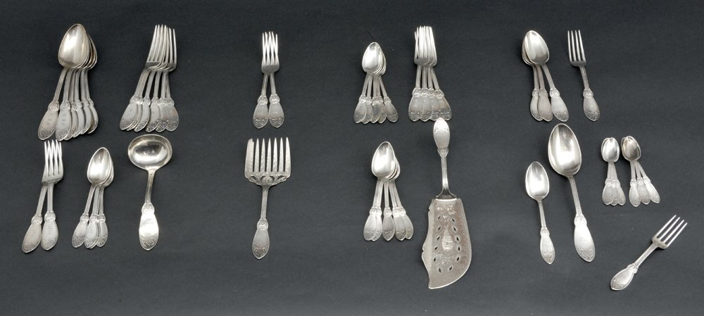 Tiffany & Co sterling silver & coin flatware,