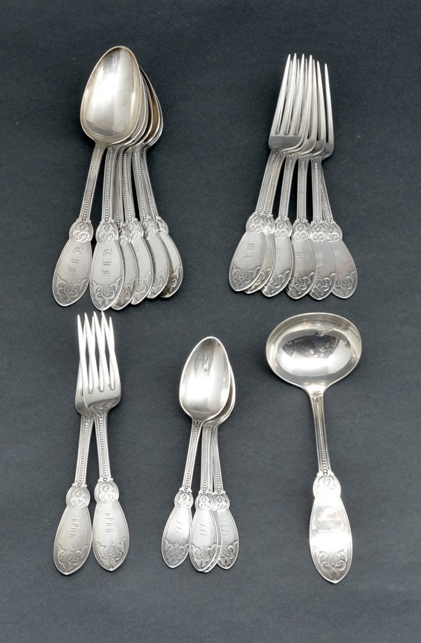 Tiffany & Co sterling silver & coin flatware, - 2