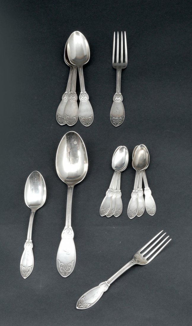 Tiffany & Co sterling silver & coin flatware, - 5