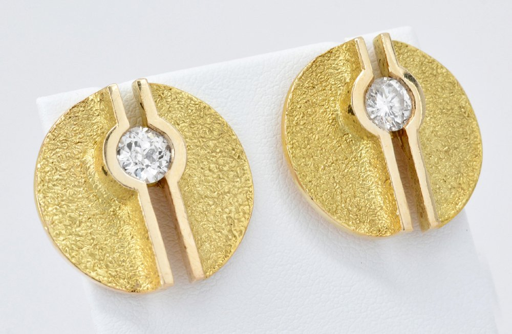 14k Gold & Diamond Earrings