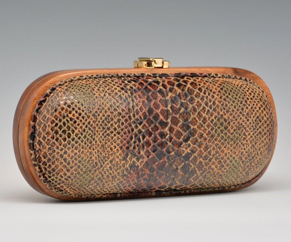 Timmy Woods Bullet Shape Snakeskin Handbag