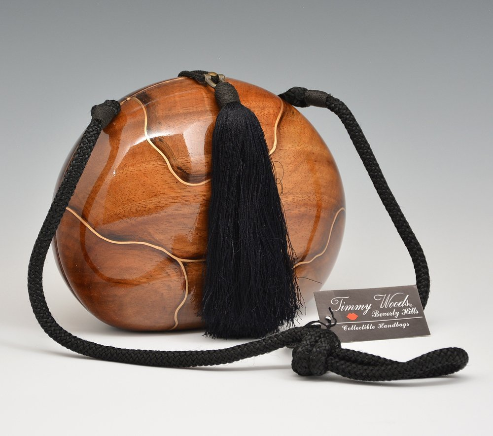 "Timmy Woods ""Stylized Marble"" Wood Handbag"