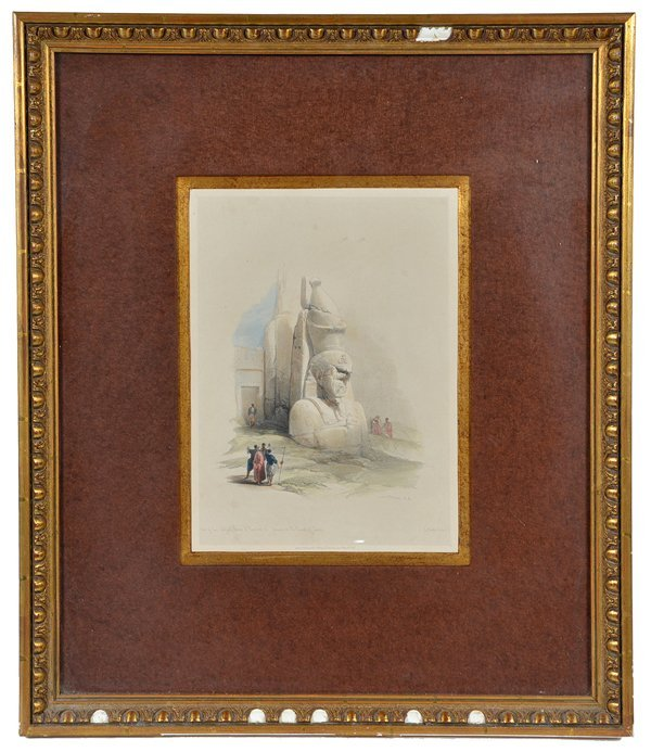 3 David Roberts lithographs, Egyptian Monuments - 3