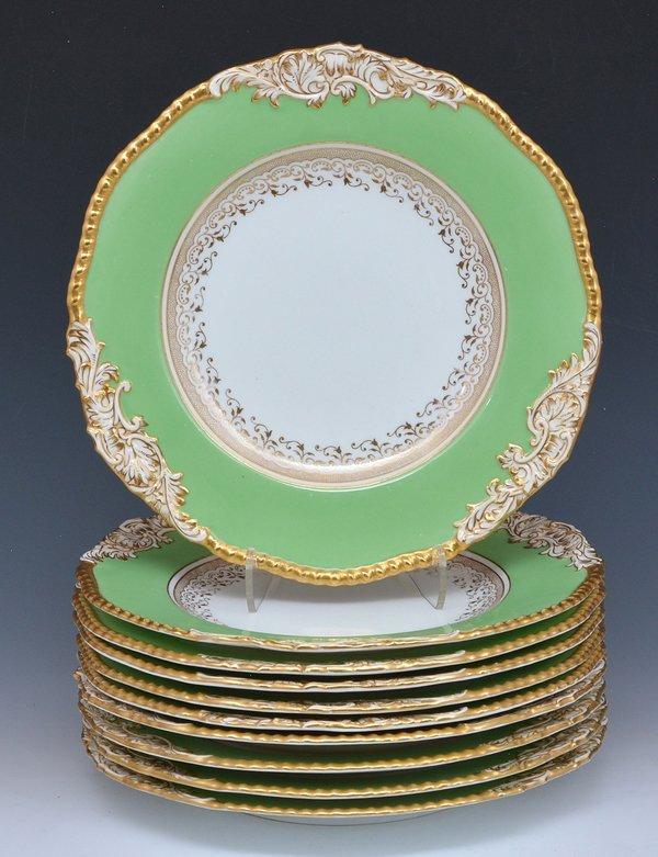 Tiffany Coalport dessert plates, 10 pcs