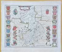 Willem Blaeu map of Cambridge 1645