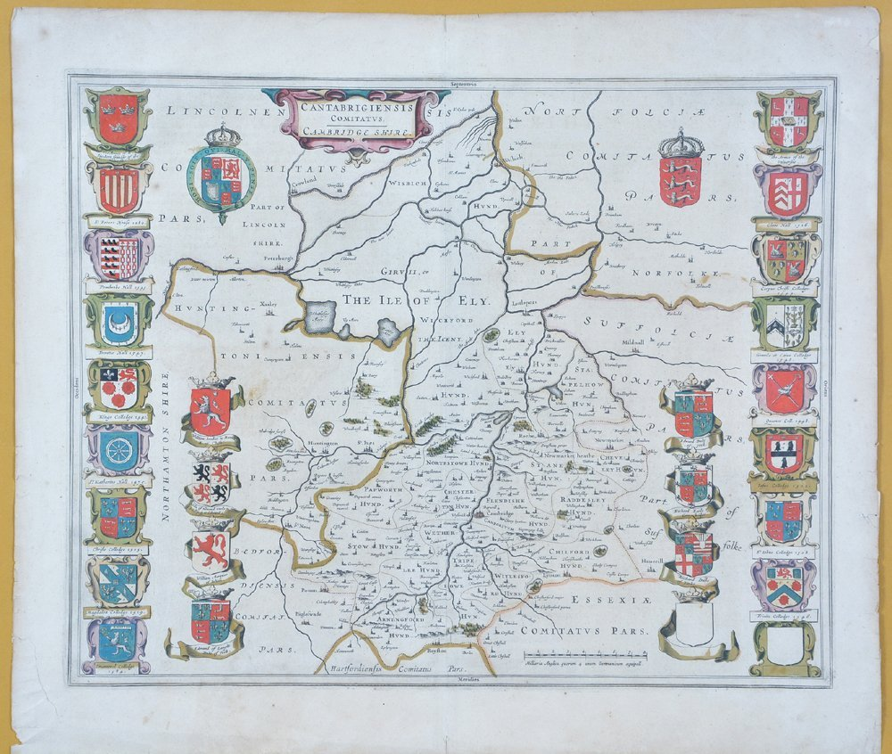 Willem Blaeu map of Cambridge, 1645