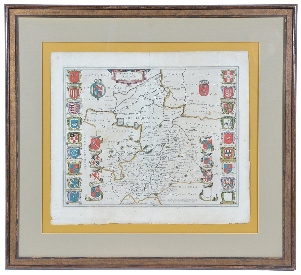 Willem Blaeu map of Cambridge, 1645 - 2