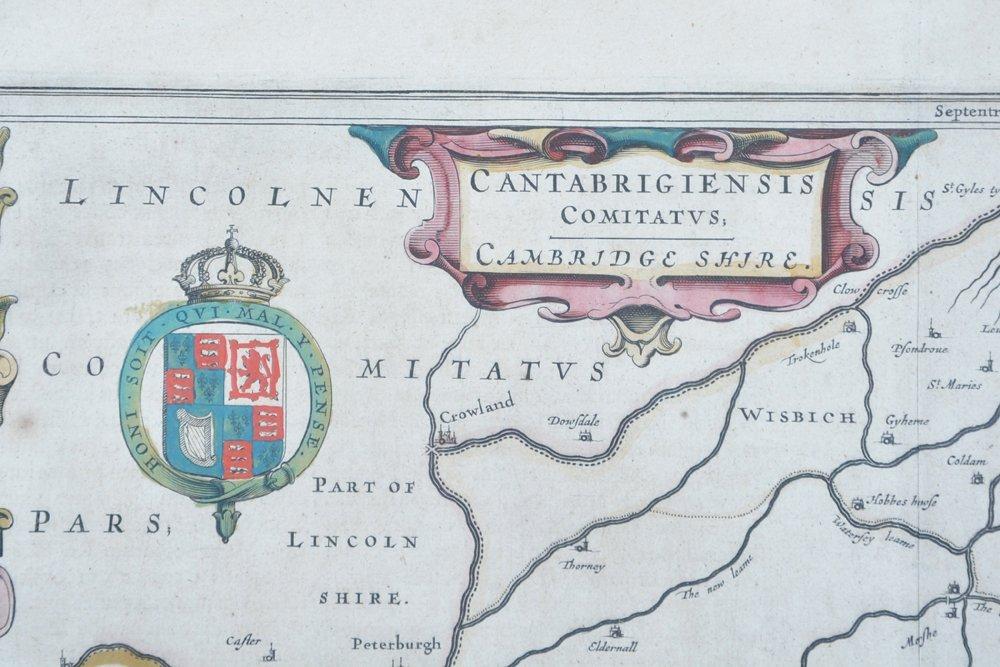 Willem Blaeu map of Cambridge, 1645 - 3