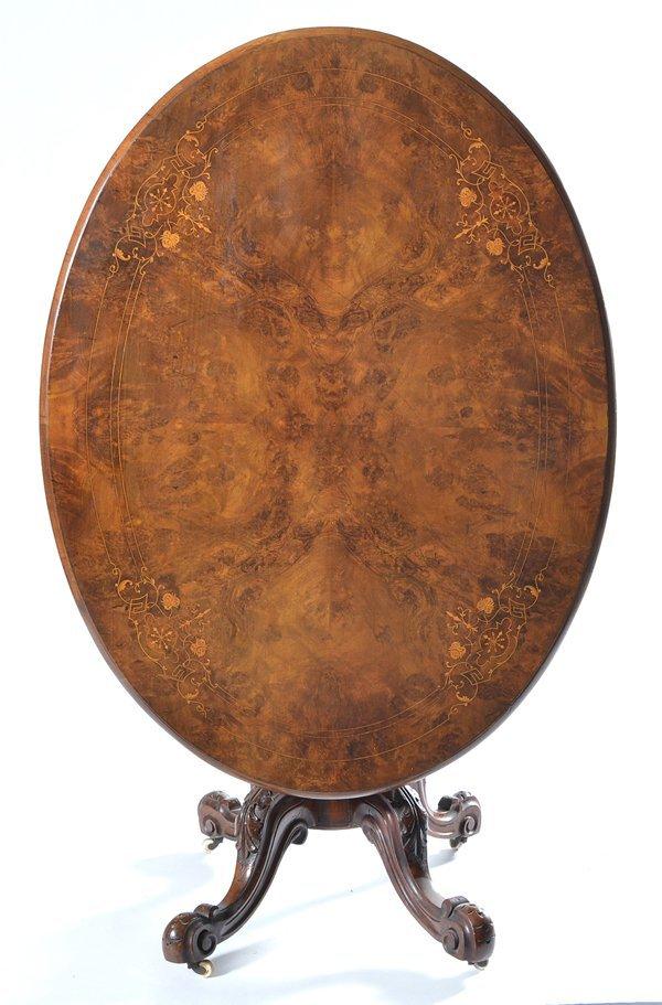 English Victorian tilt top tea table - 2