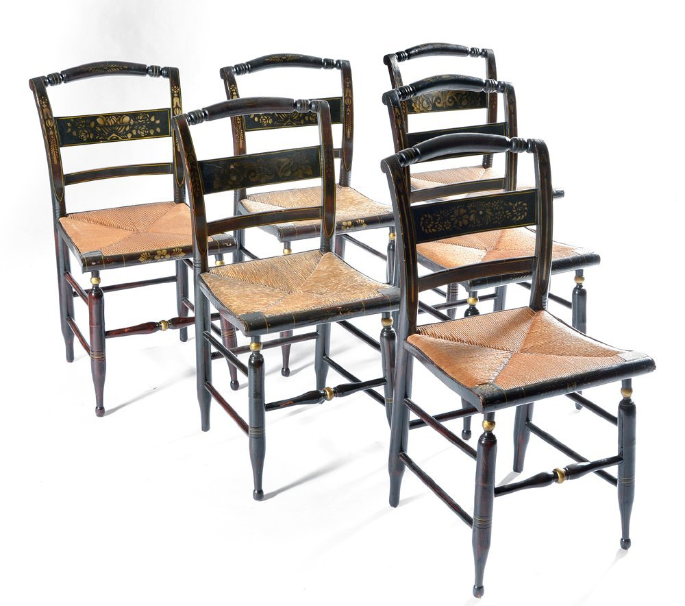 6 Continental Thumback Chairs