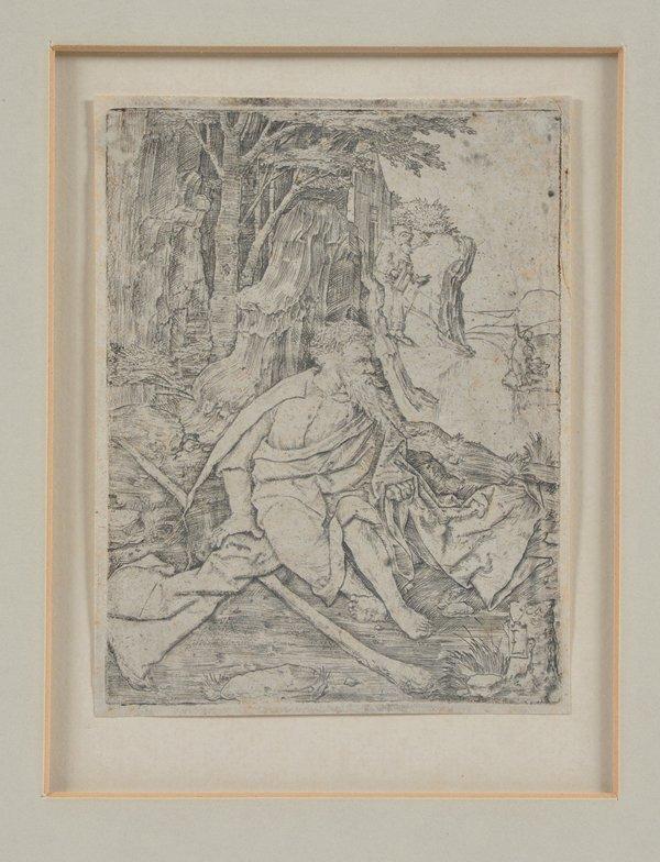 Lucas van Leyden engraving, St Christopher, 1506