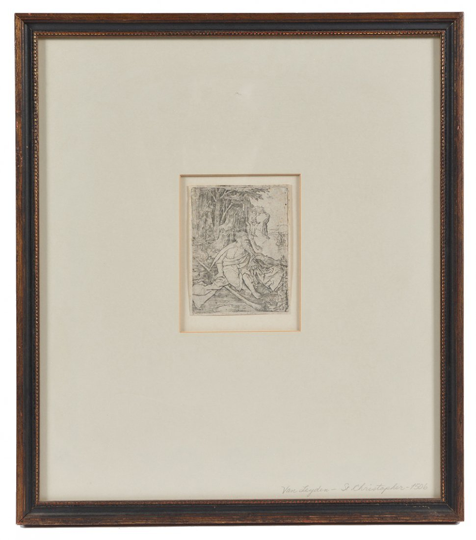 Lucas van Leyden engraving, St Christopher, 1506 - 2
