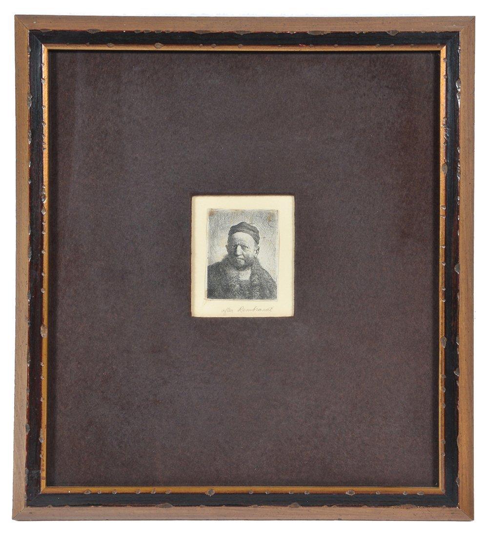 Engraving after Rembrandt, Portrait of a Man - 2
