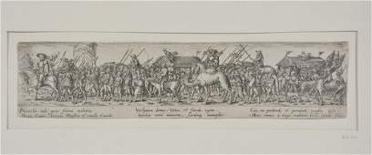 Jan de Bray etching, Marching Soldiers, after H.S.