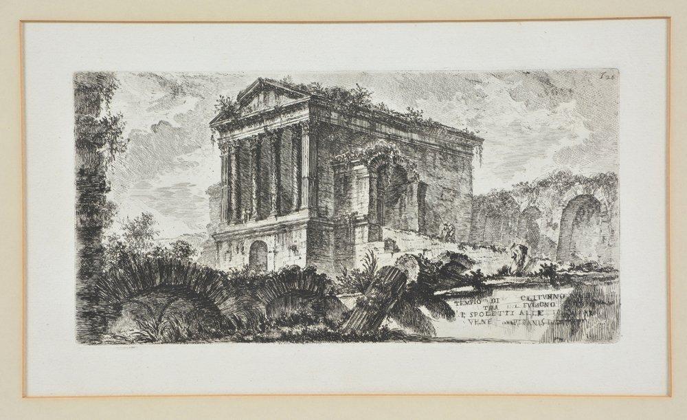 "Piranesi etching, ""Temple of Clitumnus"", 1748"