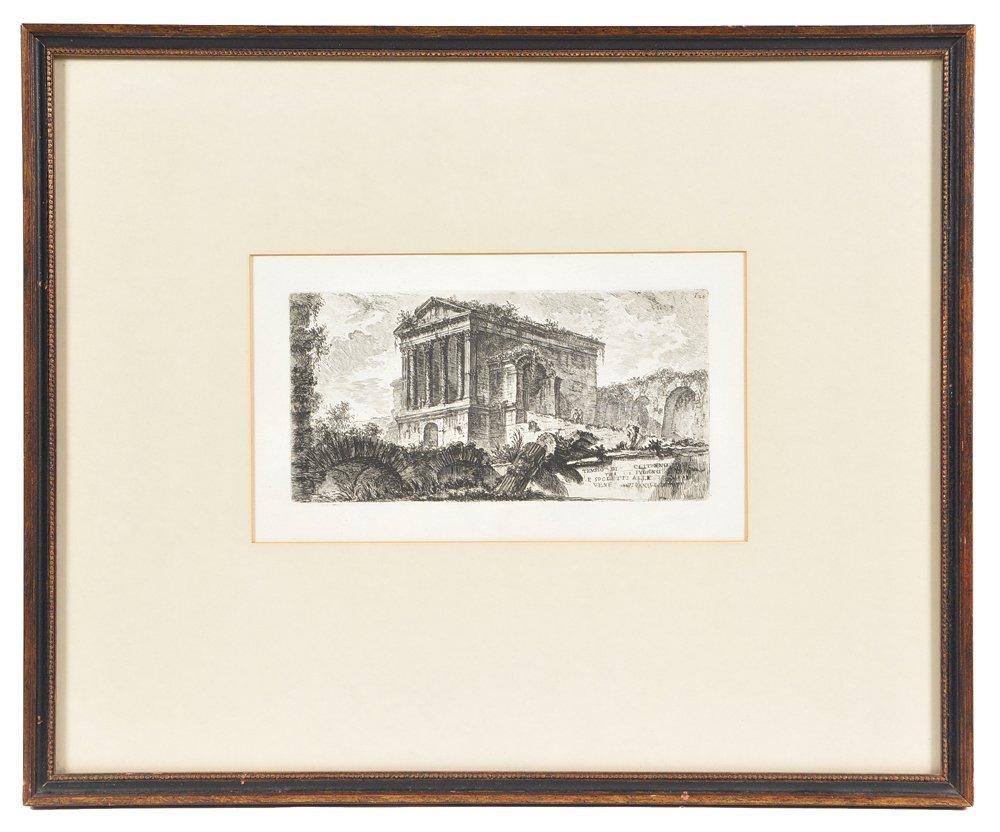 "Piranesi etching, ""Temple of Clitumnus"", 1748 - 2"