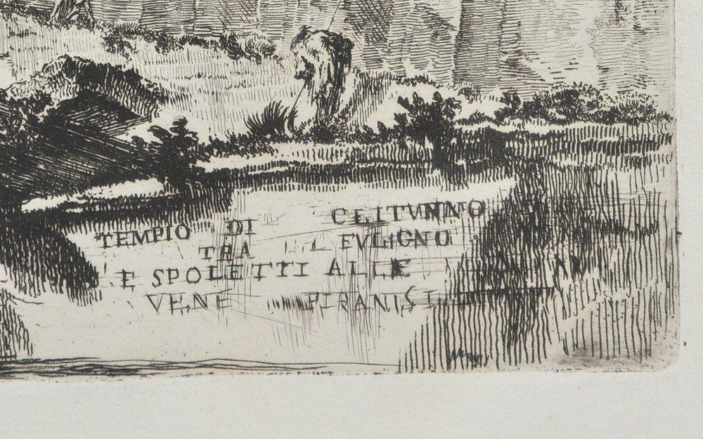 "Piranesi etching, ""Temple of Clitumnus"", 1748 - 3"