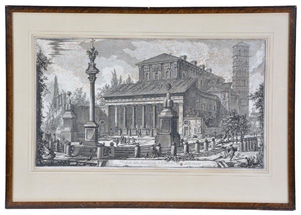"Piranesi etching ""Basilica di S. Lorenzo"", 1750"