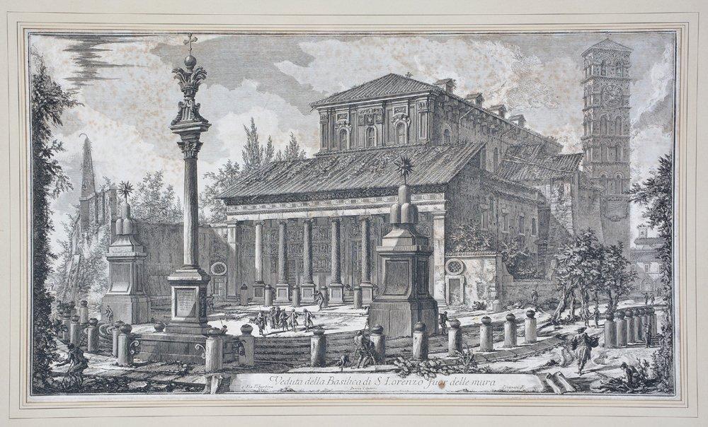 "Piranesi etching ""Basilica di S. Lorenzo"", 1750 - 2"