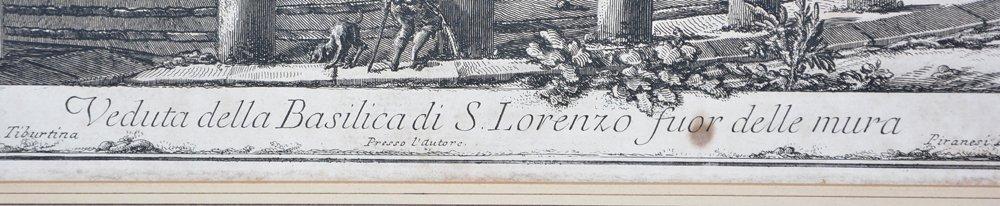 "Piranesi etching ""Basilica di S. Lorenzo"", 1750 - 3"