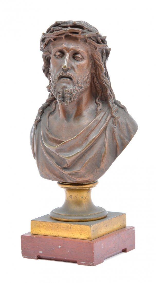 "Bulio bronze, bust of Jesus Christ, 10"" tall - 2"