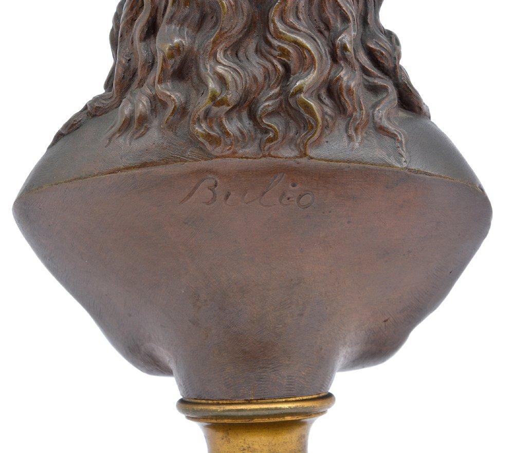 "Bulio bronze, bust of Jesus Christ, 10"" tall - 3"