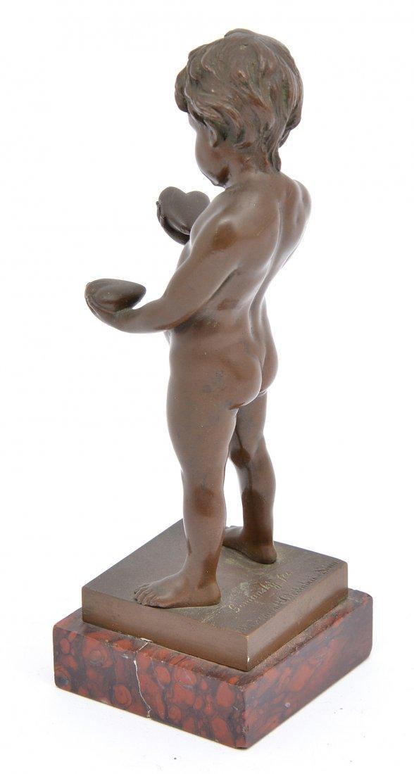 "Edmund Gomanski bronze Cupid, 6 1/2"" t - 2"