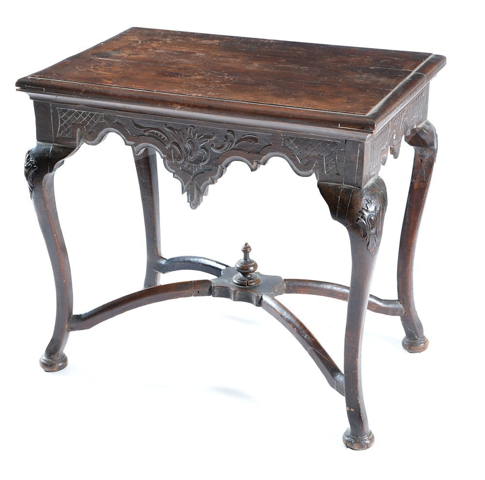 Spanish table with cabriole legs, 18th/19th c