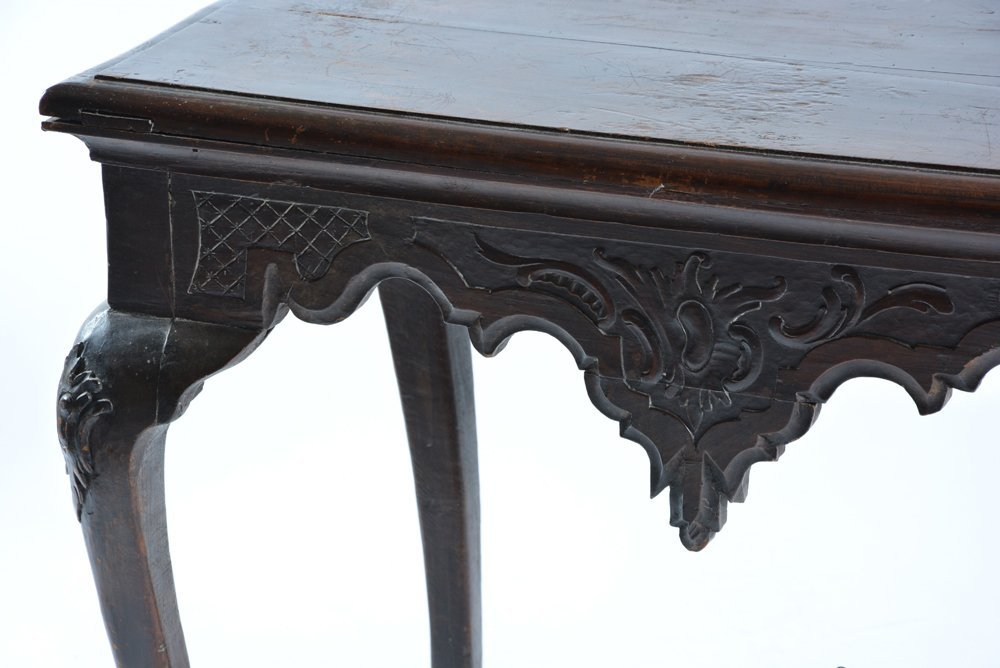 Spanish table with cabriole legs, 18th/19th c - 2