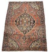 """Persian scatter rug, 4' 8"""" x 3' 4"""""""